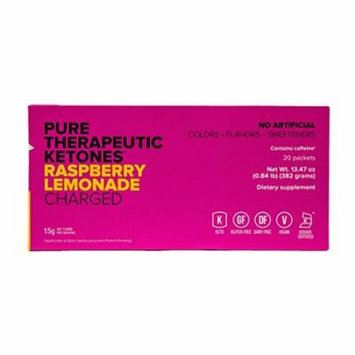 KETO//OS MAX Raspberry Lemonade CHARGED (20 Sachets) Energy Boost, Promotes Weight Loss and Burn Fats through Ketosis