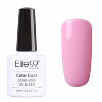 Elite99 Soak Off UV LED Gel Nail Polish Top Base Coat Pure Pink Range Nail Art 10ML (002)