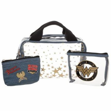 Cosmetic Bag - Wonder Woman - 3 Pcs Travel Set New Licensed xb69ysdco