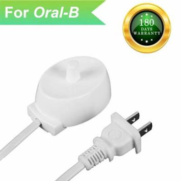 Oie Loves Electric Toothbrush Replacement Charger,Compatible With Braun Oral B Toothbrush Portable Environmental Abs For Travel (White)