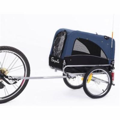 Sepnine 10308S-Blue Small Bicycle Pet Trailer Only, Blue
