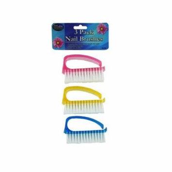Kole Imports BE009-12 Nail Brush Set - Pack of 12
