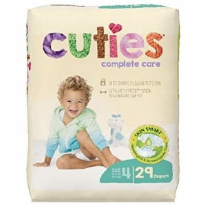3 Pack - Cuties Complete Care Baby Diaper, Size 4 - 29 ea