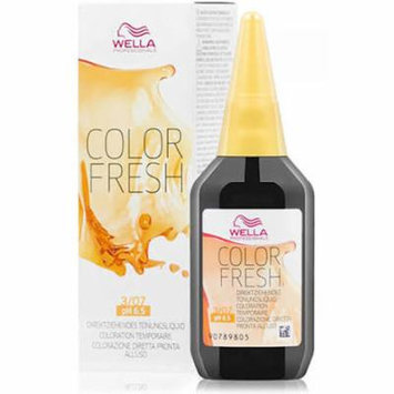 Color Fresh 3/07 Dark Brown / Natural Brown 2.5oz   Semi-Permanent   Wella Pro