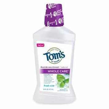 Tom's of Maine - Whole Care Anticavity Fluoride Mouthwash 16fl.oz. 4 PACK SD
