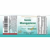 (Glass Bottle) Good State Liquid Ionic Manganese Ultra Concentrate (10 drops equals 5 mg - 100 servings per bottle)