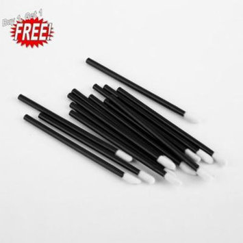 Oie Loves 2PCS 100 Pcs Disposable Lip Brush Gloss Wands Applicator Perfect Make Up Tool