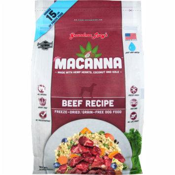 Grandma Lucy's Macanna Grain-Free Beef Freeze-Dried Dog Food, 8 Lb