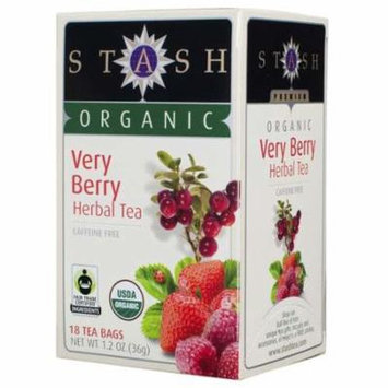 Stash Tea - Stash Tea Organic Very Berry Herbal Tea Bags 18 tea bags 4 PACK SD