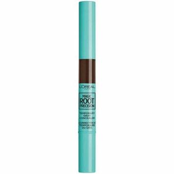 L'Oreal Paris Magic Root Precision Temporary Gray Hair Color Concealer Brush, 5 Medium Brown, 0.05 fl. oz.
