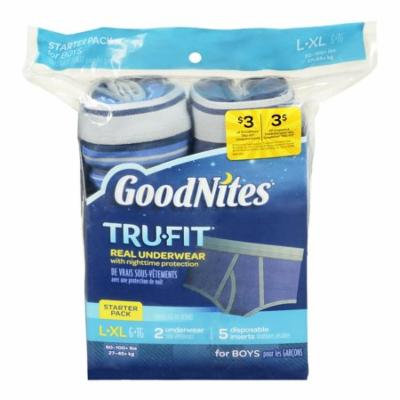 (2 pack) Goodnites Trufit Real Underwear for Boys, Starter Pack Size L-xl