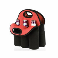 Kole Imports OT363-4 Six Pack Protective Bottle Carrier - Pack of 4