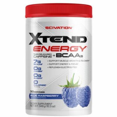 Xtend Energy BCAA Powder w/Caffeine, Blue Raspberry, 30 Servings