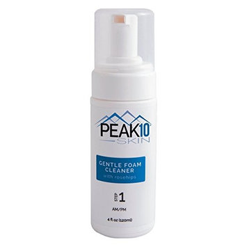 PEAK 10 SKIN - Gentle Foam Cleanser w/rose hips 4oz