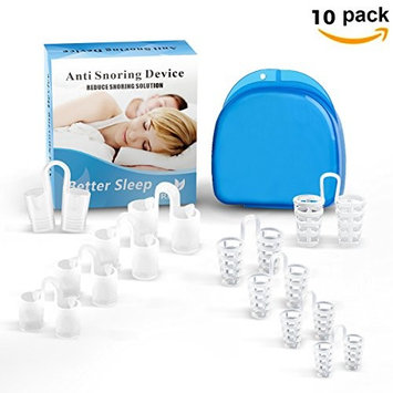 Anti Snoring Devices Nose Vents Nasal Dilator Stop Snoring Nose Breathing Aids-10 Pack