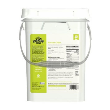 Augason Farms Banana Chips Certified Gluten Free Emergency Bulk Food Storage 4-Gallon Pail 151 Servings