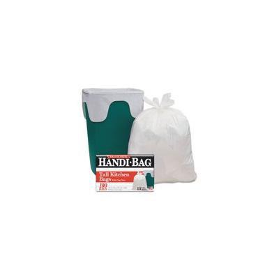 Drawstring Kitchen Bags, 13 Gal, 0.6 Mil, 24 X 27 2/5, White, 50/bx, 6 Bx/ct
