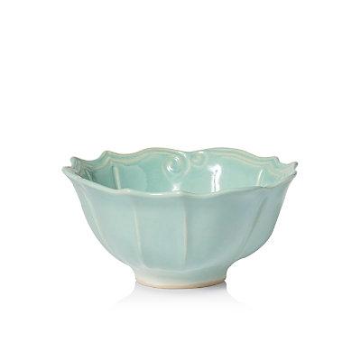 Vietri Incanto Stone Aqua Baroque Medium Serving Bowl