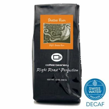 Coffee Beanery Butter Rum Flavored Coffee SWP Decaf 12 oz. (Whole Bean)