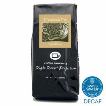 Coffee Beanery Macadamia Nut Flavored Coffee SWP Decaf 12 oz. (Whole Bean)