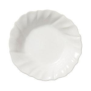 Vietri Incanto Stone White Ruffle Pasta Bowl