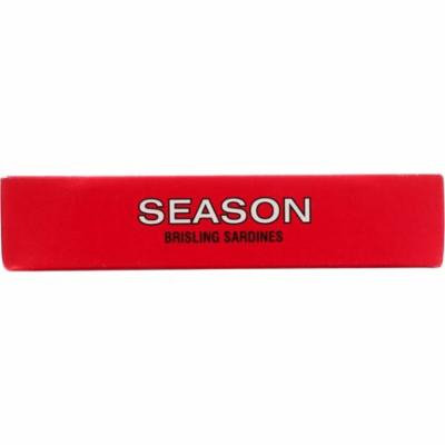 Season Brand Sardines - Brisling - in Tomato Sauce - Salt Added - 3.75 oz - case of 12
