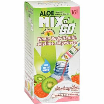 Lily of the Desert Aloe Drink Mix - Mix N Go Strawberry Kiwi - 16 Packets