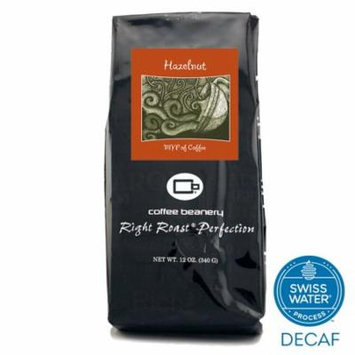 Coffee Beanery Hazelnut Flavored Coffee SWP Decaf 12 oz. (Whole Bean)