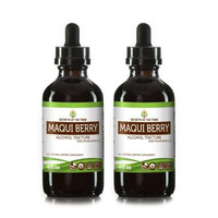 Secrets Of The Tribe Maqui Berry Tincture Alcohol Extract, Organic Maqui Berry (Aristotelia chilensis) Dried Berry 2x4 oz