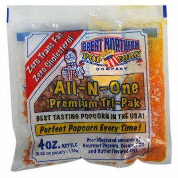 Great Northern Popcorn 4 Ounce Premium Popcorn Portion Packs, Case of 24