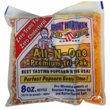 Great Northern Popcorn Premium 8 Ounce Popcorn Portion Packs, Case of 24