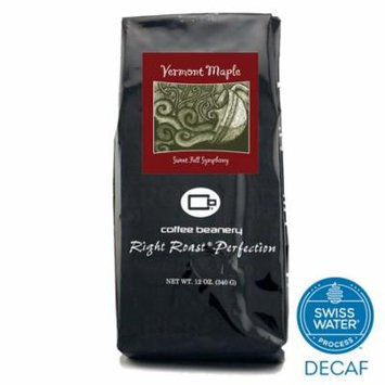Coffee Beanery Vermont Maple Flavored Coffee SWP Decaf 12 oz. (Whole Bean)