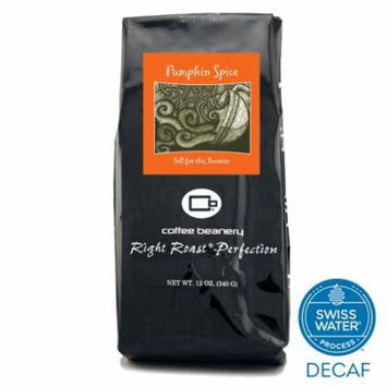 Coffee Beanery Pumpkin Spice Flavored Coffee SWP Decaf 12 oz. (Whole Bean)