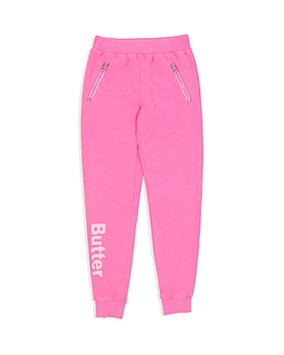 Butter Girls' Fleece Joggers with Zippered Pockets - Little Kid