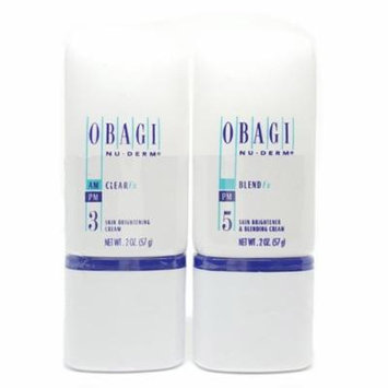 Obagi Nu-Derm Skin Care Clear Fx and Blend Fx Set 2 oz