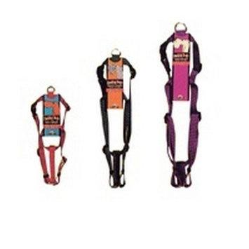 Aspen Pet 22110 1 x 28-36 In. Adjustable Black Harness