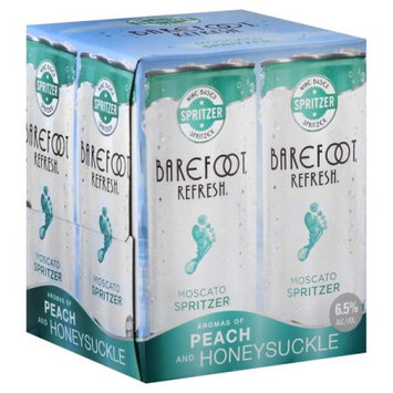 E & J Gallo Winery Barefoot Refresh Moscato Spritzer, 4 pack, 187 ML Cans