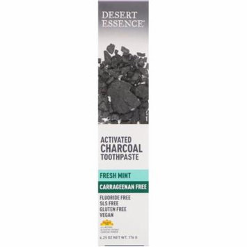 Desert Essence Activated Charcoal Toothpaste Fresh Mint 6 25 oz 176 g