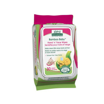 Aleva Naturals Bamboo Baby Hand & Face Wipes, 180 Count (6 Packs of 30) -