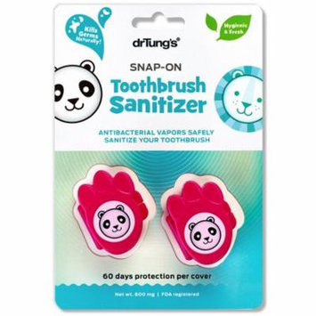 Dr. Tung's, Kid's Snap-On Toothbrush Sanitizer , 2 Toothbrush Sanitizers(pack of 6)