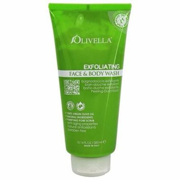 Exfoliating Face & Body Wash - 10.14 fl. oz. by Olivella (pack of 4)