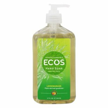 ECOS Hand Soap Organic Lemongrass - 17 fl. oz. by Earth Friendly (pack of 4)
