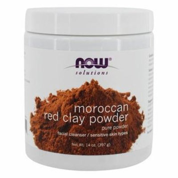 Facial Cleanser Moroccan Red Clay Powder - 14 oz. by NOW Foods (pack of 4)