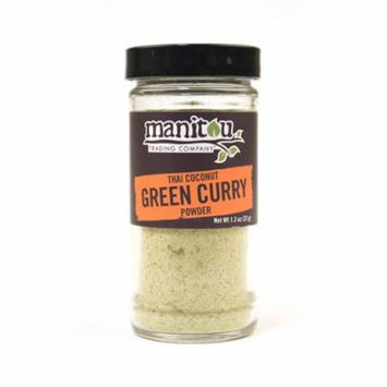 Thai Coconut Green Curry Powder, 1.3 Oz Glass Jar