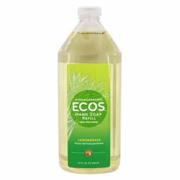 ECOS Hand Soap Refill Organic Lemongrass - 32 fl. oz. by Earth Friendly (pack of 6)