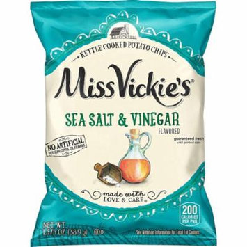 Miss Vickie's Sea Salt & Vinegar Flavored Kettle Cooked Potato Chips 1.375 oz Bags - Pack of 64