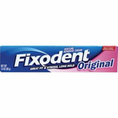 Fixodent Denture Adhesive Cream, Original, 2.4 oz. (Pack of 14)