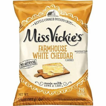 Miss Vickie's Farmhouse White Cheddar Flavored Kettle Cooked Potato Chips 1.375 oz Bags - Pack of 64