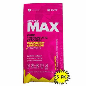 KETO//OS MAX Raspberry Lemonade CHARGED (5 Sachets) Energy Boost, Promotes Weight Loss and Burn Fats through Ketosis