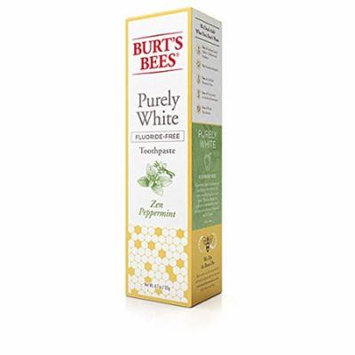 Burt's Bees Toothpaste, Fluoride Free, Purely White, Zen Peppermint
